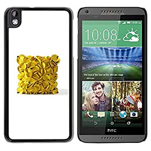 Be Good Phone Accessory // Dura Cáscara cubierta Protectora Caso Carcasa Funda de Protección para HTC DESIRE 816 // banana cube