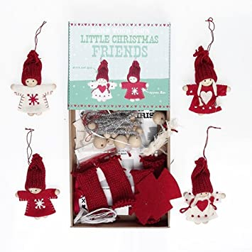 make your own christmas friends tree decorations felt craft kit