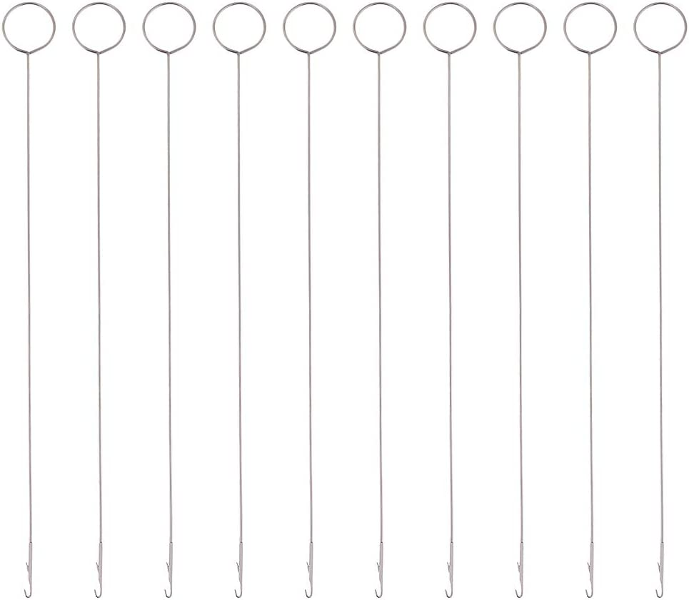 LoveinDIY 10Pcs Portable Metal Loop Turner Hook with Latch for Fabric Tubes Binding
