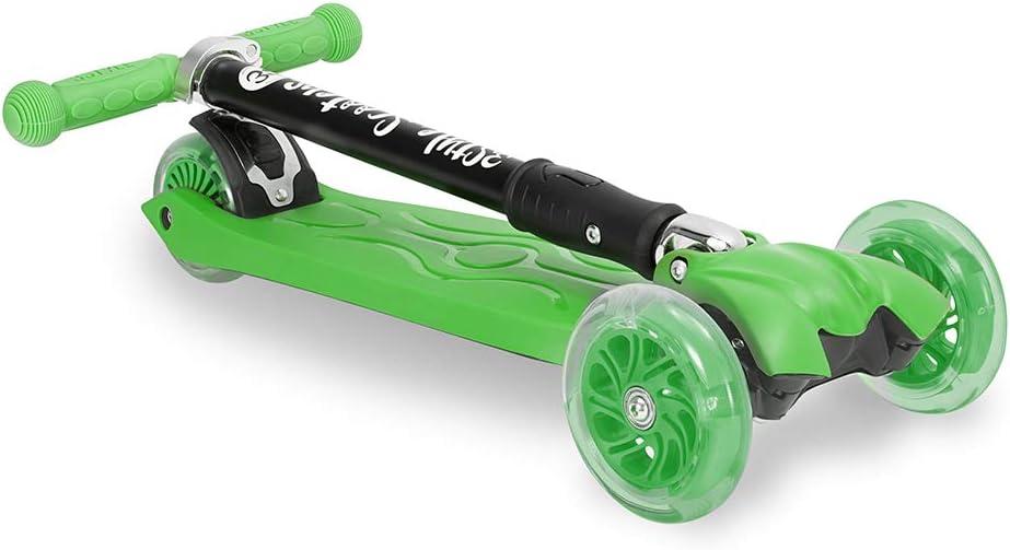 3StyleScooters/® RGS-2 Enfants Trottinette /à 3 Roues Id/éale pour Les Enfants de 5 Ans et Plus avec Roues /à Del Lumineuses Design Pliable et poign/ées r/églables