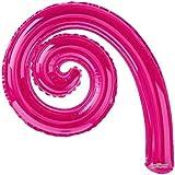 "14"" Kurly Spiral Magenta Air-Fill Balloon - Pack of 5"