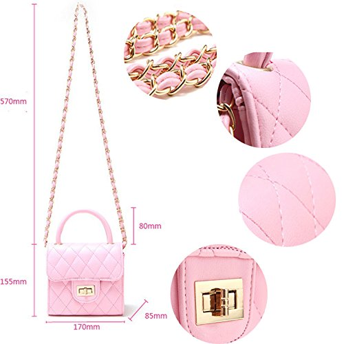 Turn Purse Abuyall Chain bag Clutch Pt6 bag Lattice Bag Pu Princess Evening Girl Tote Gold Party Messenger Clutch Little Set Lock Handle Shoulder Mini Cute Handbag Top awnxUHrqEw