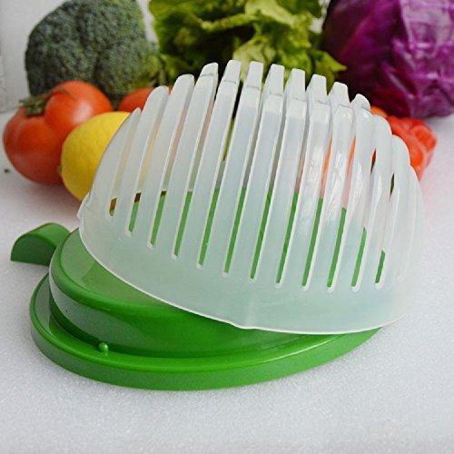 American Posh Dealer 1 12 60 Second Salad Maker Fast Fruit Vegetable Cutter Bowl, 1