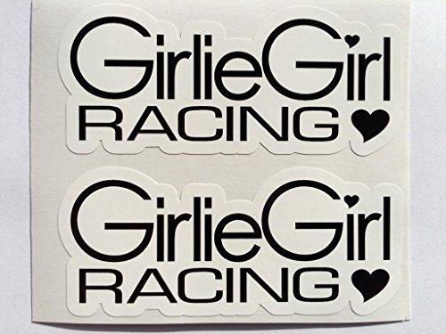 2 Girlie Girl Racing Die Cut Decals ()
