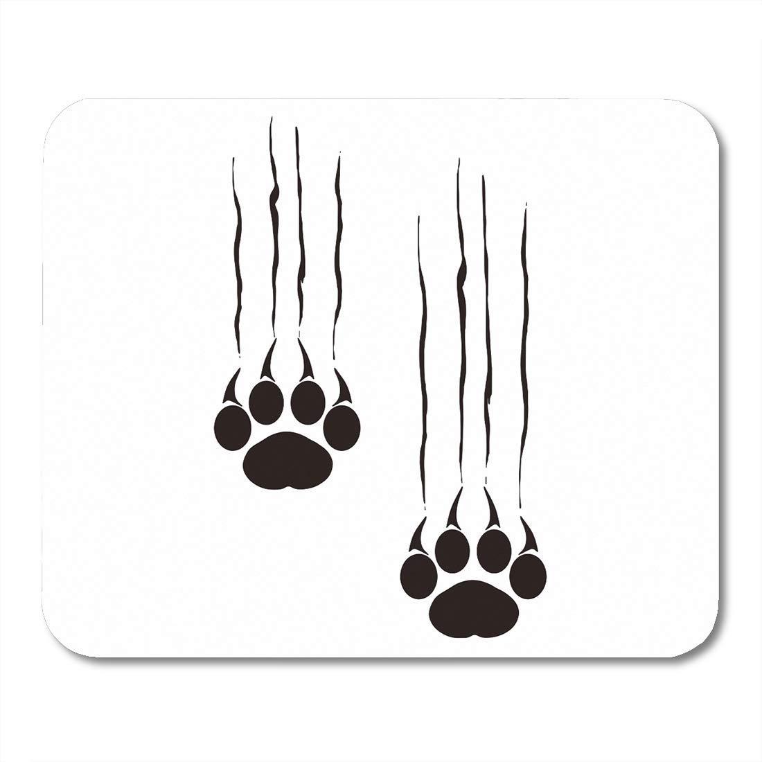 VANKINE マウスパッド ブラウン ウェイナー ダックスフンド 犬 カラフル 動物 ブラック 犬種 漫画 9.5インチ x 7.9インチ ノートブック デスクトップ コンピューター アクセサリー ミニ オフィス用品 マウスマット 9.5
