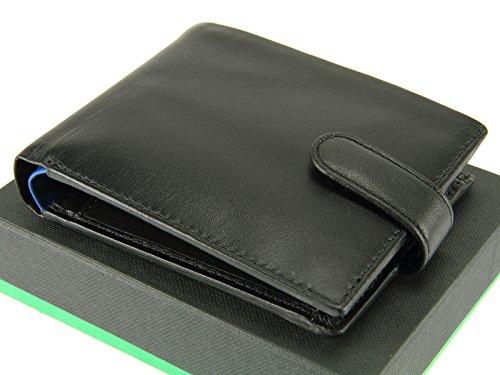Leather Bifold Coins Gents Vincent Blue Wallet PM100 Mens Black Visconti Cards For Soft Real Black Blue Notes gxXfEwqvw