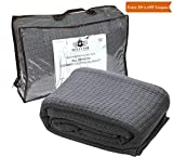 HILLFAIR 100% Soft Premium Combed Cotton Thermal Blanket– Queen Blankets– Soft Cozy Warm