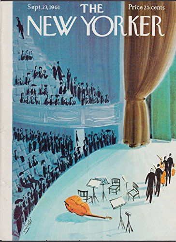 New Yorker cover Micossi string quartet 9/23 1961