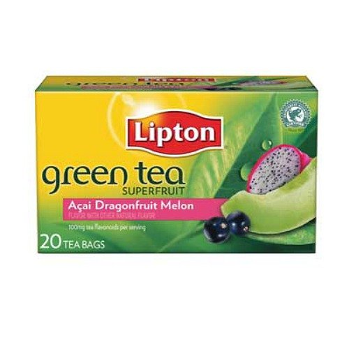 Lipton Green Tea Bags, Dragonfruit Melon 20 bags (Melon Tea Green Tea)