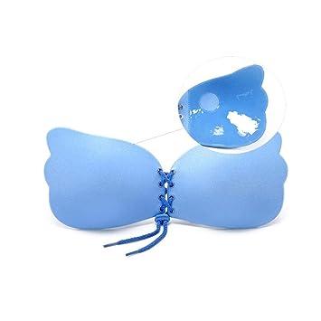 wonderfulwu - Sujetador de Vendaje Autoadhesivo sin Tirantes con pétalos de Pecho de Silicona para Mujer Blue D: Amazon.es: Hogar
