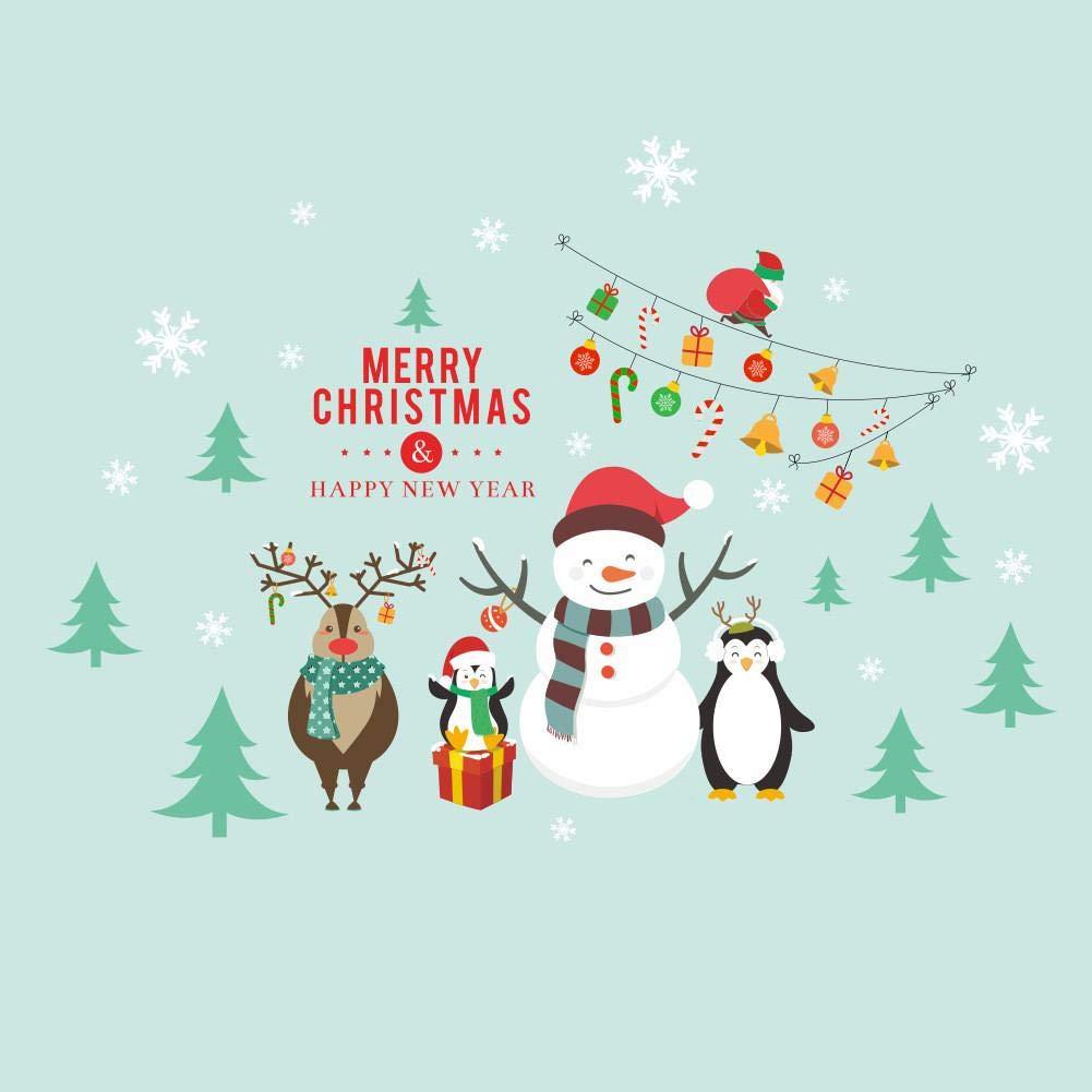 Ornamento Di Natale Adesivo Di Babbo Natale Pupazzo Di Neve Decorazione Della Finestra Del Negozio Del Centro Commerciale Adesivi Per Vetrofanie Adesivi Murali In Vetro 1pcs/3pcs iBelly