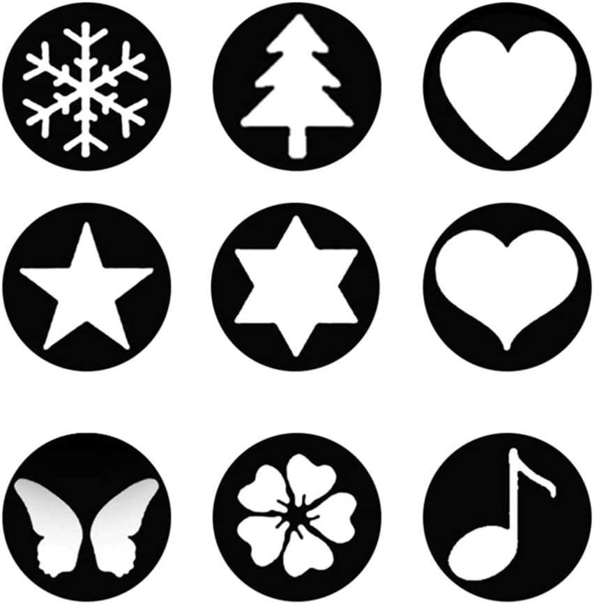 72mm Star Special Effect Kit Bokeh Filter Spot Card with 9 Patterns Flower Music Heart Snowflake Butterfly /& Camera Lens Cap