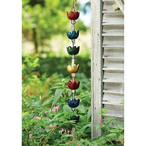 Ancient Graffiti Lily Cups Rain Chain ()