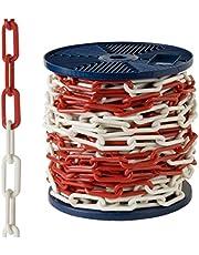 AFT - Plastic ketting, tweekleurig, 6 mm, rol van 25 m