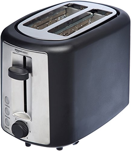 AmazonBasics 2 Slice Extra Wide Slot Toaster - Black (Amazon Toaster Red)