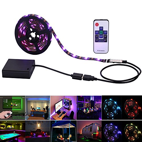 Inwaysin-Led-Strip-Lights-USB-Battery-Powered-RGB-Strip-Light-656ft2M-60leds-Flexible-Tape-Light-with-RF-Remote-Controller-for-HDTV-Flat-Screen-TV-Accessories-and-Desktop-PC-Multi-Color