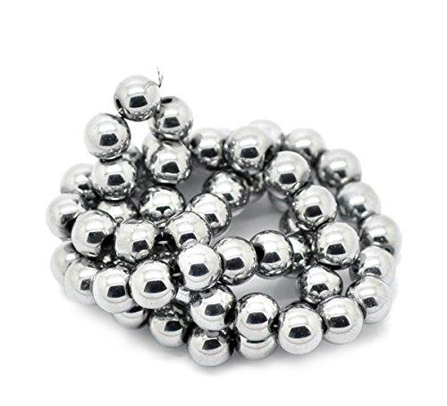 Housweety Bijoux Accessoires 1 Enfilade Perles Hematite 8mm