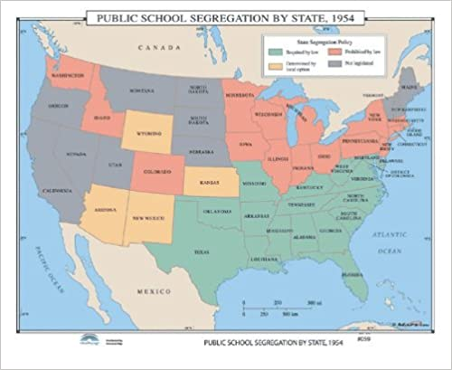 Amazoncom Public School Segregation By State Us History Wall - Map-of-segregation-in-us