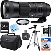 Sigma 150-600mm F5-6.3 DG OS HSM Zoom Lens (Contemporary) for Canon DSLR Cameras includes Bonus Xit 60 Photo / Video Tripod and More