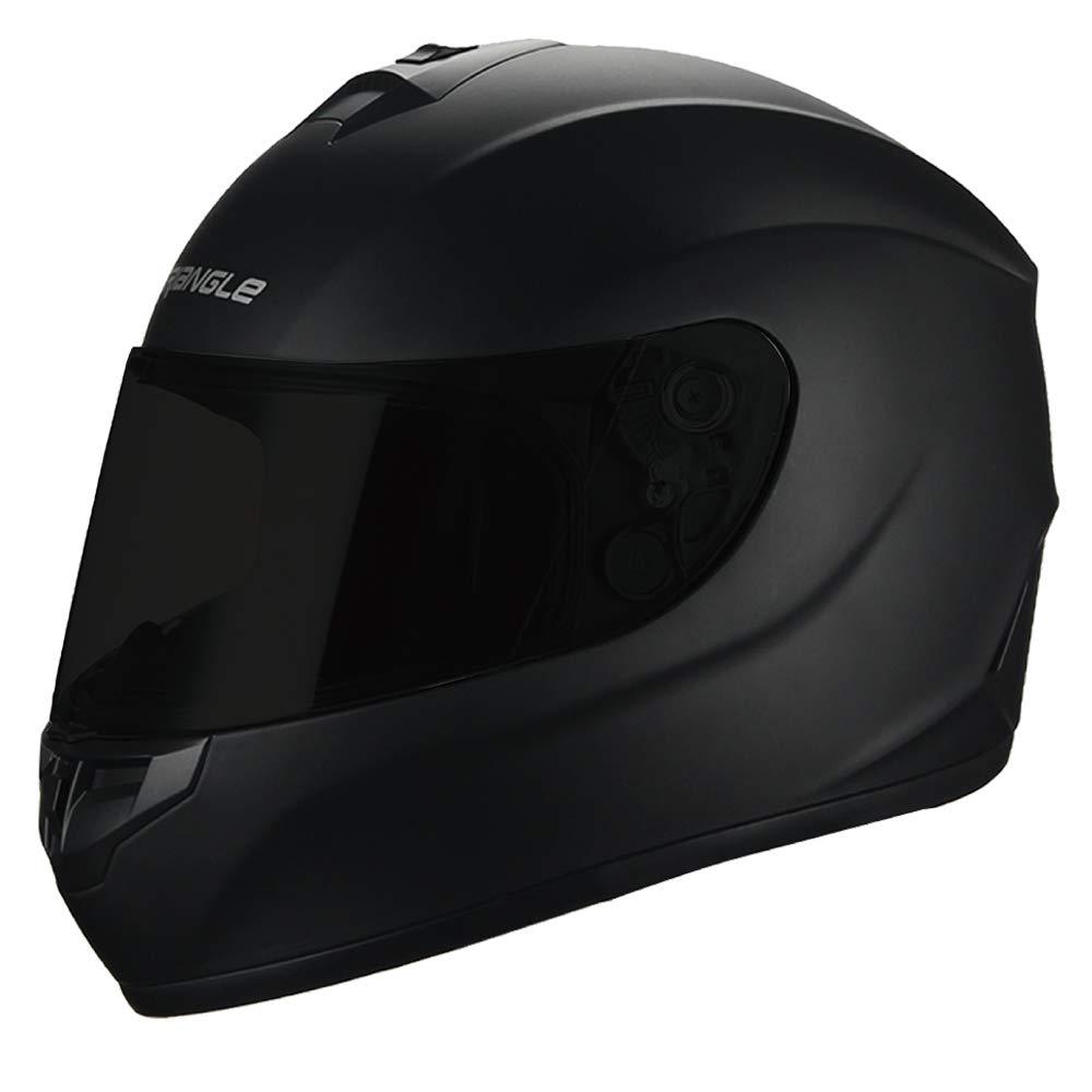 Triangle Motorcycle Helmets Full Face ''Graffiti Cross'' Street Bike [DOT] (X-Large, Matte Black)