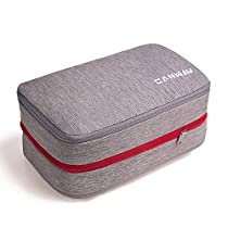 CANWAY 便利旅行圧縮バッグ ファスナー圧縮スペース50%節約 衣類収納圧縮バッグ 【令和初の新型】
