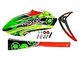 Fiberglass Green Gears Fuselage: Blade 200 SRX