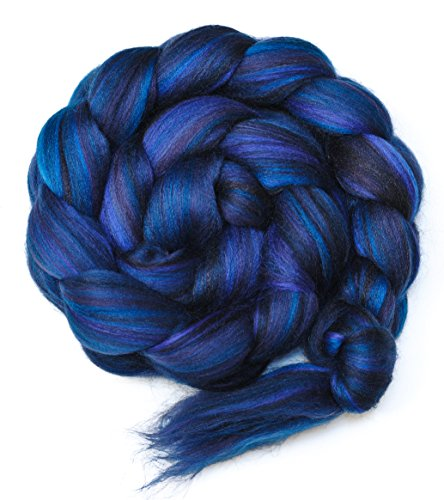 RAVEN Custom Blend Merino and Mulberry Silk Combed Top Wool Roving for (Wool Combed Top)