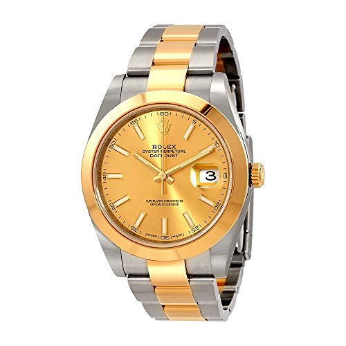 Rolex Datejust 41 Champagne Dial Steel and 18K Yellow Gold Oyster Mens Watch 126303CSO