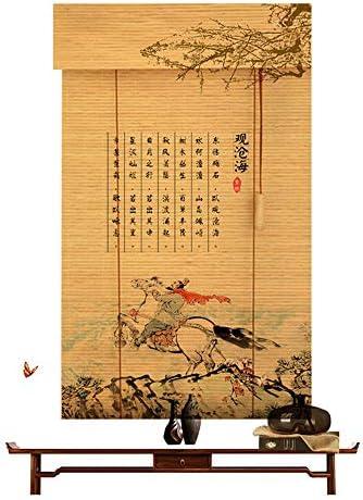 竹製ローラーブラインド、屋内バルコニー遮光カーテン、屋外仕切りローラーブラインド、サイズはカスタマイズ可能ZDDAB