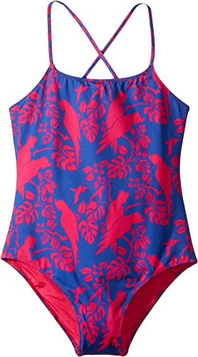 Vilebrequin Kids Girl's Cockatoo Print Swimsuit (Big Kids) Navy Swimsuit by Vilebrequin Kids