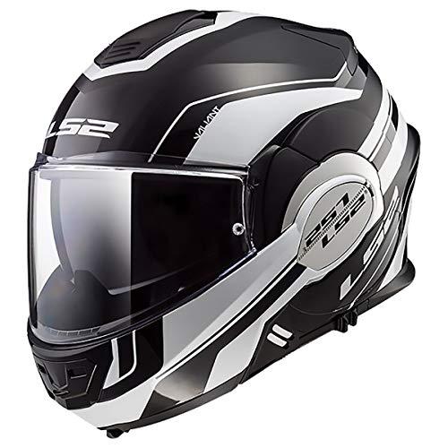 LS2 Helmets Valiant Lumen Matte/Gloss Graphic Unisex-Adult Flip-Up-Helmet-Style Motorcycle Helmet (Matte Black