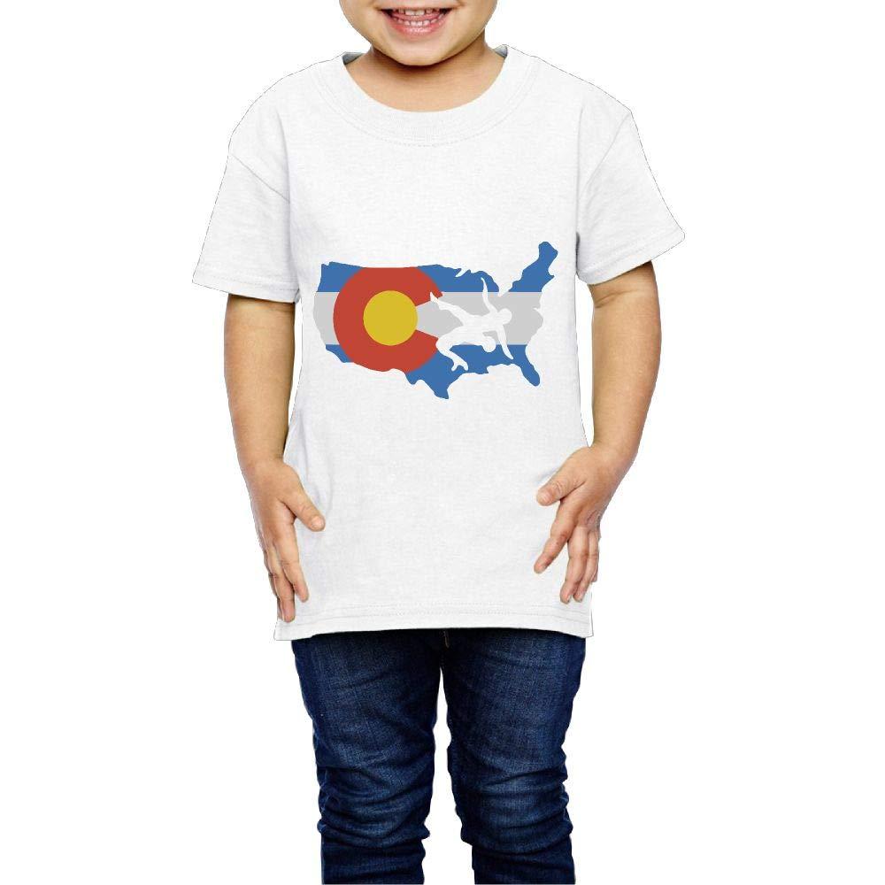 XYMYFC-E Colorado USA Wrestling 2-6 Years Old Children Short-Sleeved Tshirt