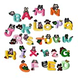 Profusion Circle Funky Fun Colorful English Letters A-Z Embroidery Patch Set Iron-On Sewing Applique Kids Clothes Decor