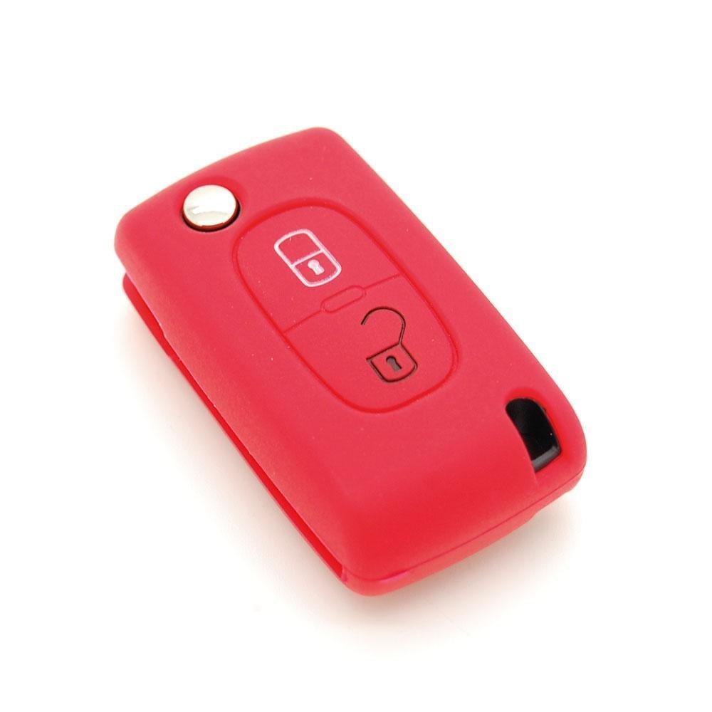 housse de clé en silicone pour Citroën C1 C2 C3 C4 C5 2 boutons