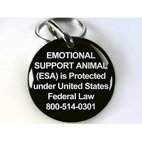 hot sale Service Dog Customized pet tag Black ESA emotional support service animal Medical Symbol