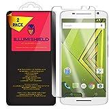 (US) iLLumiShield HD Tempered Glass [2-Pack] - Motorola Moto X Play / Droid MAXX 2 Screen Protector + Lifetime Warranty / 99.9% Ultra Clear 9H Hardness + .33 mm Ultra-Thin / Anti-Fingerprint & Bubble Free