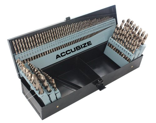 - Accusize Industrial Tools 115 Pc 3-In-1 Drill Bit Set, M35(H.S.S. plus 5% Cobalt), 135 Deg Split Point, 1/16-1/2'', No 1-60 and A-Z, 0422-1003