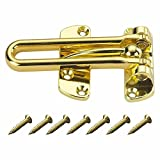 "Heavy Duty 4"" Swinging Bar Slide Bolt Entry Security Door Guard,brass Plated"