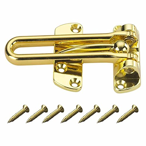 Heavy Duty 4 Swinging Bar Slide Bolt Entry Security Door Guard,brass Plated by Ultra