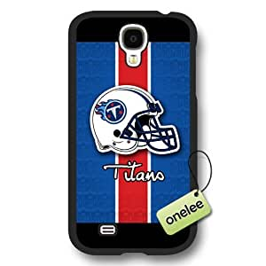 Personalize NFL Tennessee Titans Logo Frosted Black Samsung Galaxy S4 Case Cover - Black