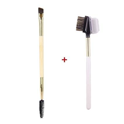 tinabless 2pcs maquillaje doble Cejas cepillo Kit – Make Up ojo ceja peine cepillo de pestañas