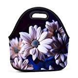 Lavender Daisy Lunch Bag Bento Pouch Lunchbox Portable Baby Bag Multifunctional Satchel Tote for Outdoor Tour School Office Picnic