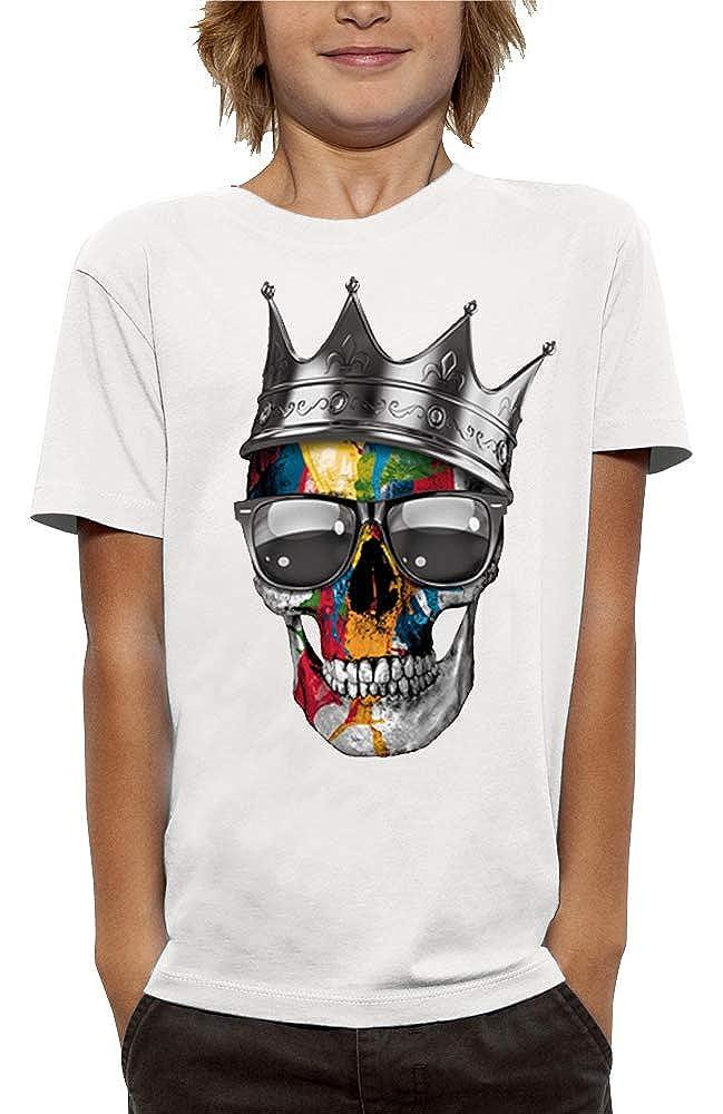 PIXEL EVOLUTION Maglietta Cranio Corona di RE Bambino