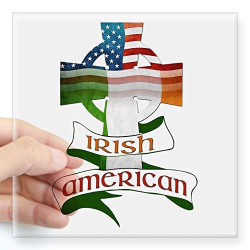 CafePress Irish American Celtic Cross Square Sticker 3&Quot; Square Bumper Sticker Car Decal, 3