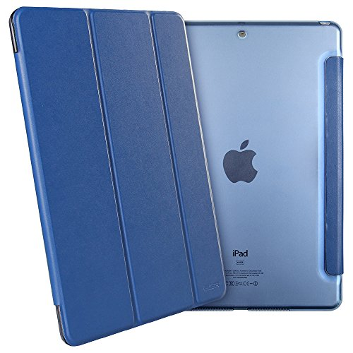 Large Product Image of ESR Yippee Trifold Smart Case for iPad 9.7 2018/2017, Lightweight Smart Cover with Auto Sleep/Wake, Microfiber Lining, Hard Back Cover for iPad 9.7 iPad 5th / 6th Generation, Navy Blue