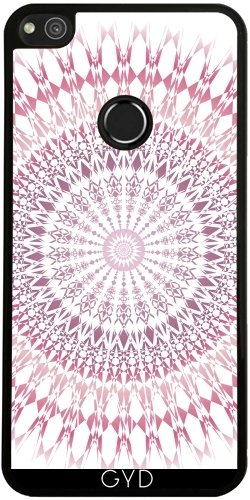 Funda de silicona para Huawei P8 Lite 2017 - Rosa Mandala Geométrica Blanca by Nina Baydur