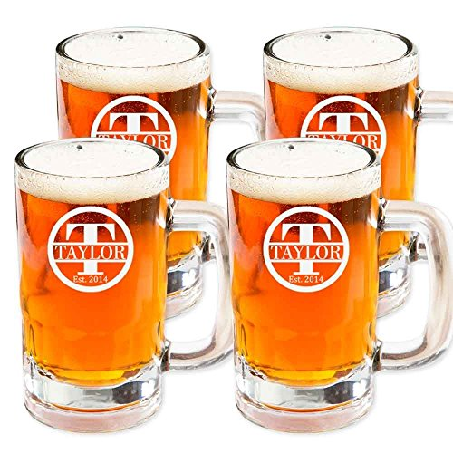 Personalized Beer Mugs (Set of 4)