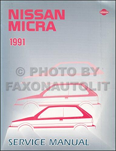 - 1991 Nissan Micra Repair Shop Manual Original Canadian