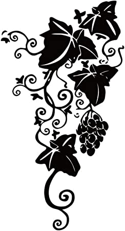 Wall stickers deco grapes vines ref 11068 11068