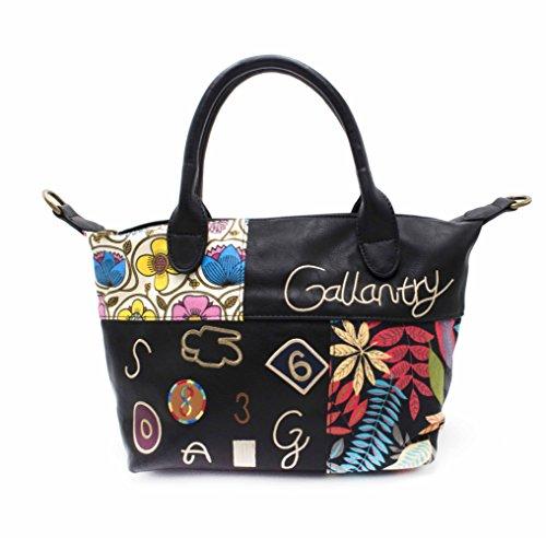 Gallantry - Bolso de asas de PU para mujer negro